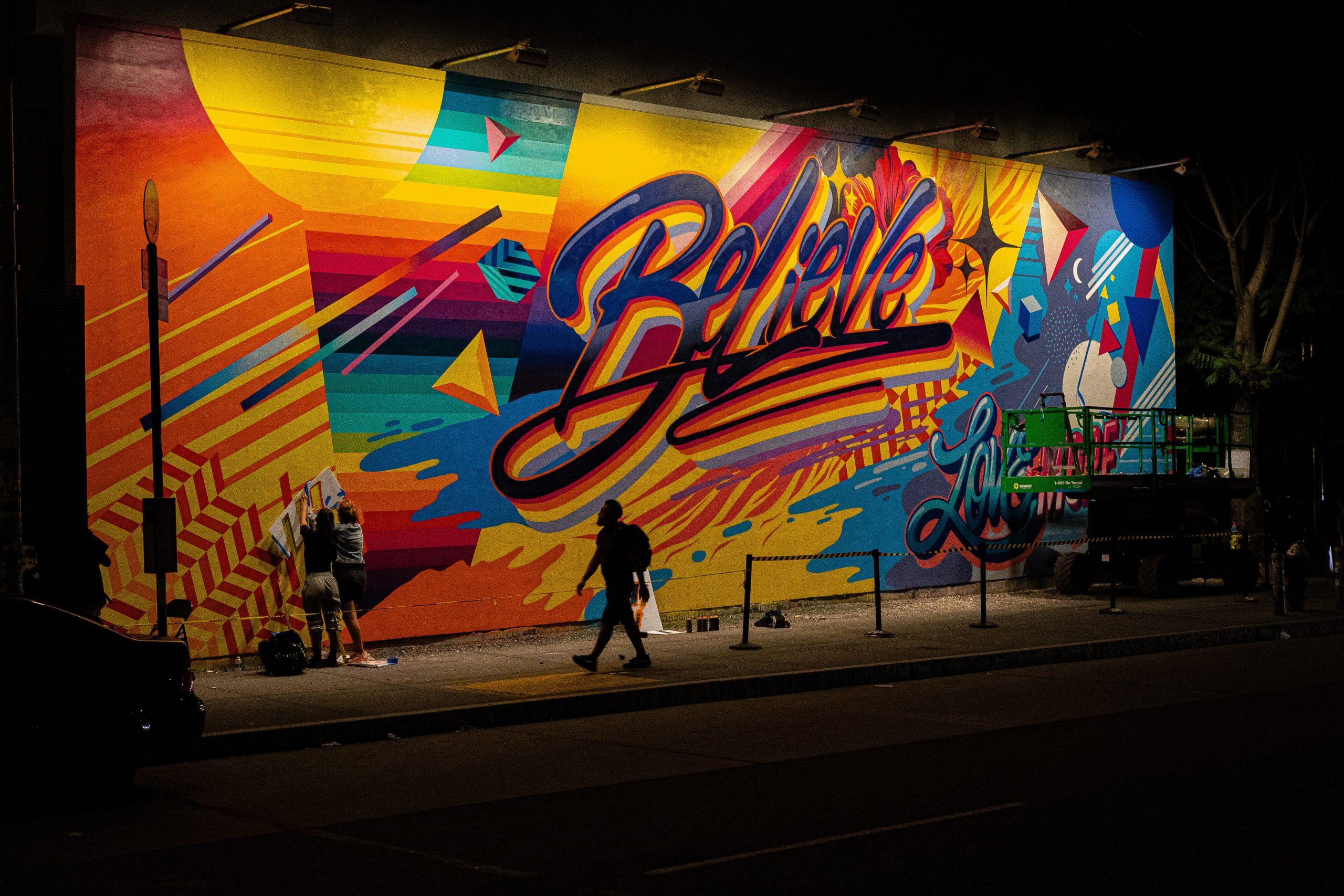 Believe graffiti on a wall
